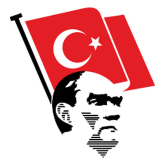 Atatürk and Flag Vector