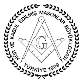 Hür ve Kabul Edilmiş Masonlar Büyük Locası Logo