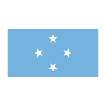 Mikronezya Federal Devletleri Bayrağı Vector