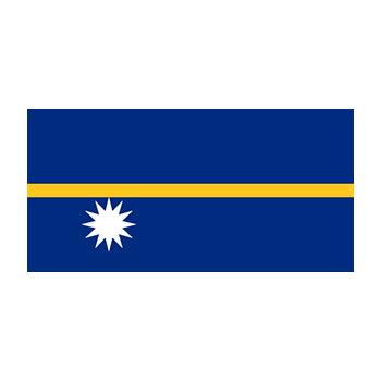 Nauru Bayrağı Vektör