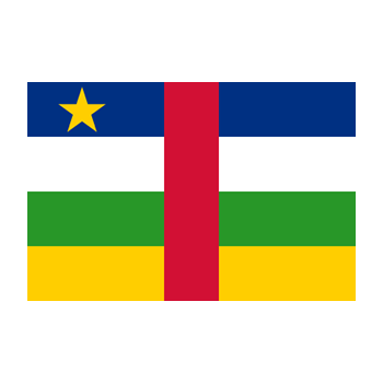 Flag of the Central African Republic Vector