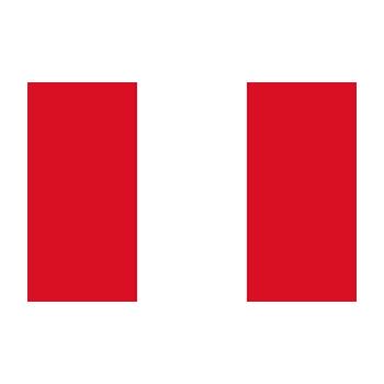 Peru Bayrağı Vektör