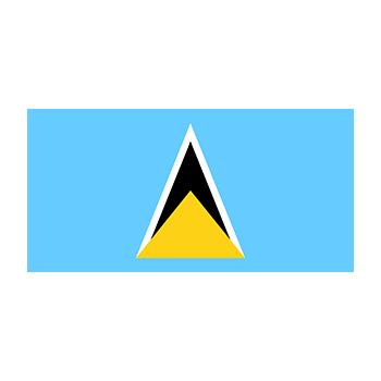Saint Lucia Bayrağı Vektör