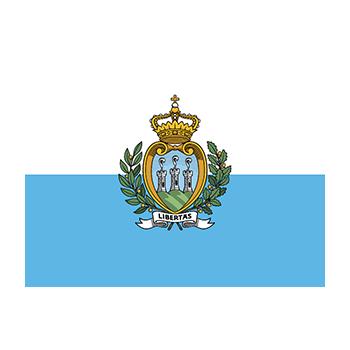 San Marino Bayrağı Vektör