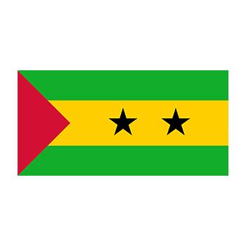 São Tomé ve Príncipe Bayrağı Vector